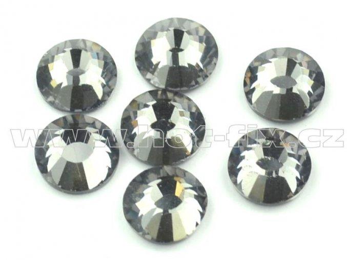 celobroušené hot-fix kameny Premium barva 126 Black diamond, velikost SS30, balení 144ks, 720ks nebo 1440ks