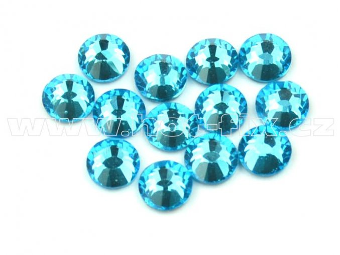 celobroušené hot-fix kameny Premium barva 120 Aquamarine, velikost SS16, balení 144ks, 720ks nebo 1440ks
