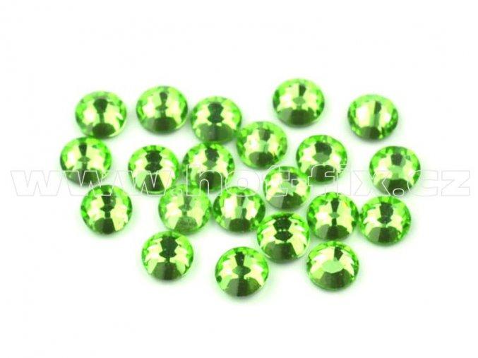celobroušené hot-fix kameny Premium barva 113 Peridot, velikost SS10, balení 144ks, 720ks nebo 1440ks