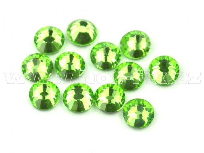 celobroušené hot-fix kameny Premium barva 113 Peridot, velikost SS16, balení 144ks, 720ks nebo 1440ks