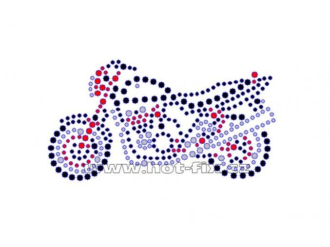 M016 - motocykl bandit nažehlovací potisk z hot-fix kamenů, rozměry cca 10,8x5,7cm