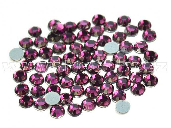 hot-fix kameny barva 121 Amethyst tmavý, velikost SS16, balení 144ks, 720ks, 1440ks