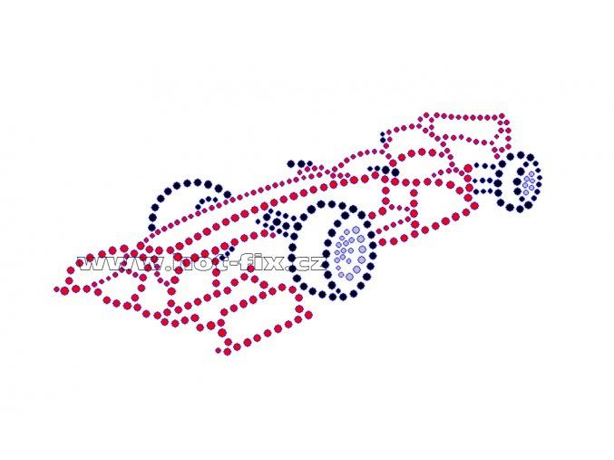 M022 - formule nažehlovací hot-fix kamínkový potisk na textil, rozměry cca 17,9x8,9cm