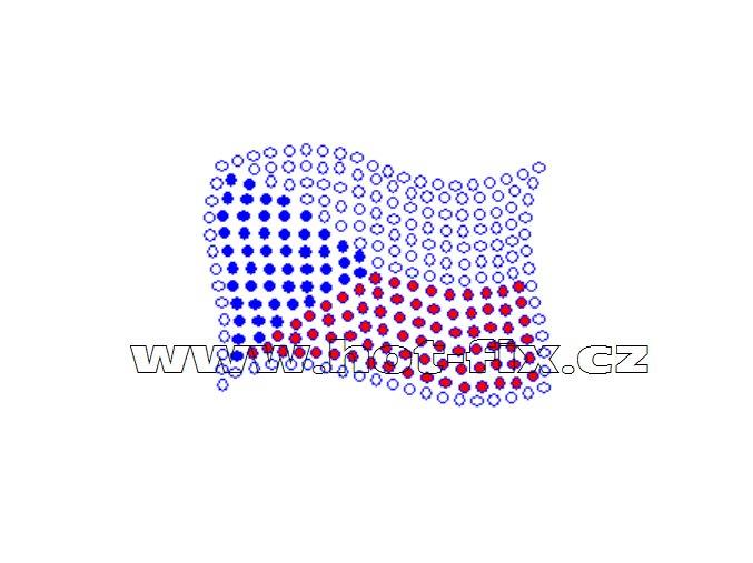 SX003 - státní vlajka ČR nažehlovací hot-fix kamínkový potisk na textil, rozměry cca 5,7x4,3cm