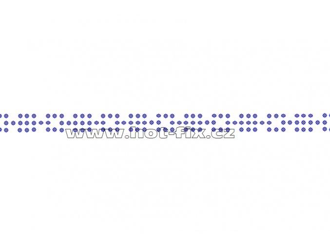 OP002 - ozdobný pásek čtverečky nažehlovací kamínkový potisk na textil, rozměry cca 28,4x0,9cm