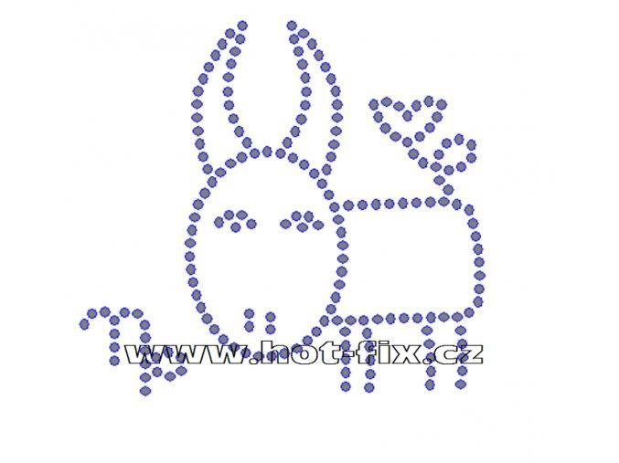 SZ003-10 - znamení zvěrokruhu Kozoroh (22.12.-20. 1.) hot-fix kamínkový potisk, rozměry cca 11,6x10,8cm