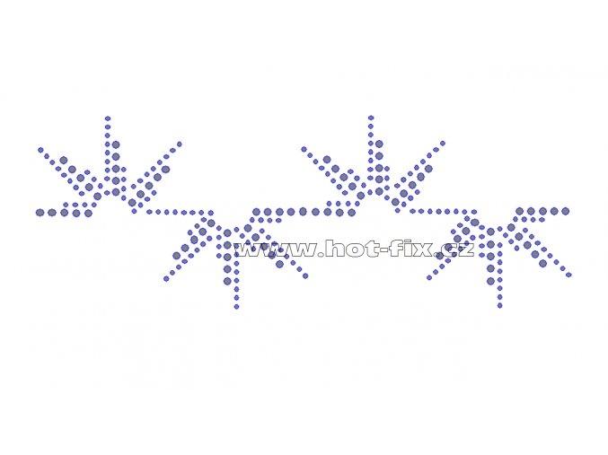 OP013 - hot-fix kamínkový nažehlovací potisk na textil, rozměry cca 20,0x7,5cm