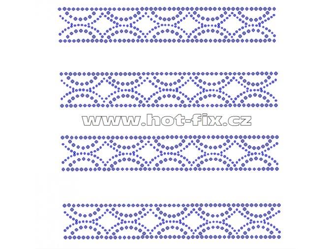 OP011-sada 4ks - ozdobný pás nažehlovací hot-fix kamínková aplikace za zvýhodněnou cenu
