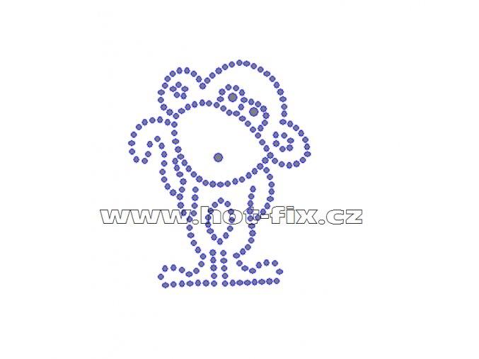 ZO002 - opice nažehlovací potisk z hot-fix kamenů, rozměry cca 5,9x7,4cm
