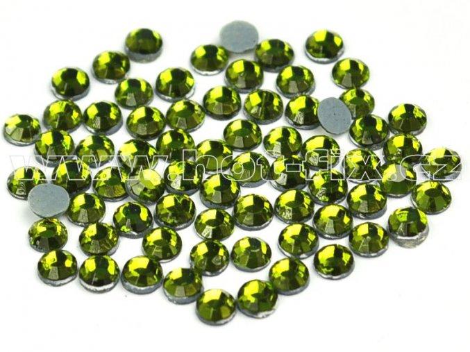hot-fix kameny barva 134 Olivine, velikost SS10, balení 144ks, 720ks, 1440ks