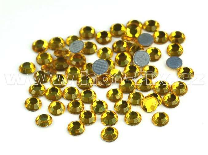 hot-fix kameny barva 137 Topaz zlatý, velikost SS10, balení 144ks, 720ks, 1440ks