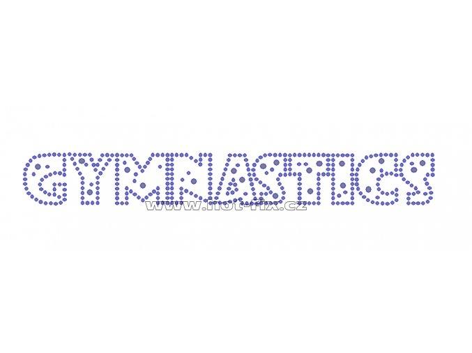 C028 - gymnastics nažehlovací potisk z hot-fix kamenů, rozměry cca 21,5x2,8cm