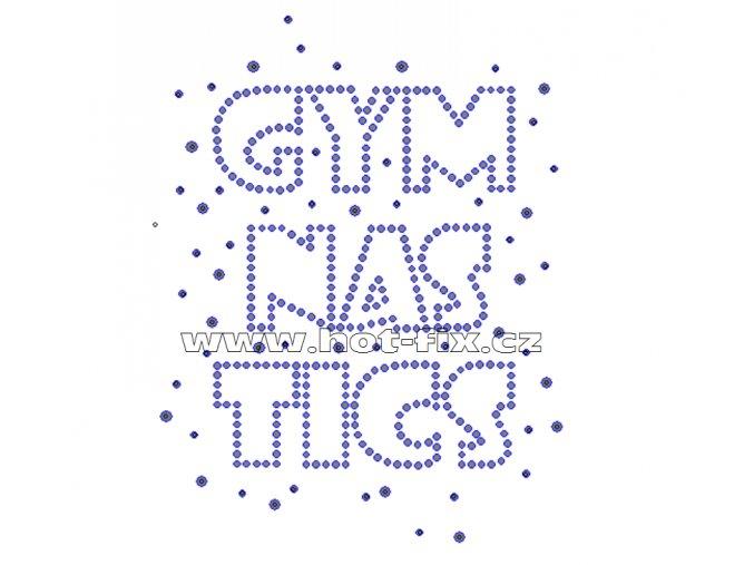 C029 - gymnastics nažehlovací potisk na textil z hot-fix kamenů, rozměry cca 10,2x13,2cm