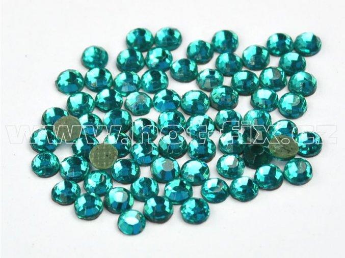 hot-fix kameny barva 140 Blue zircone /zelený tyrkys, velikost SS16, balení 144ks, 720ks, 1440ks