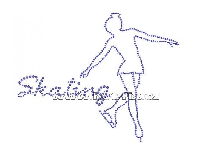 C030 - krasobruslařka a nápis skating nažehlovací potisk z hot-fix kamenů, rozměry cca 20,0x15,9cm