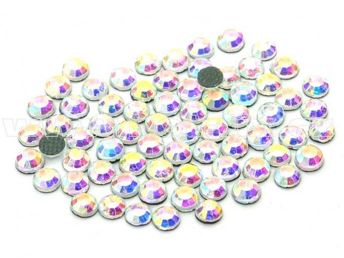 hot-fix kameny barva 201 AB Crystal /stříbrná s duhovým efektem, velikost SS30, balení 144ks, 720ks, 1440ks