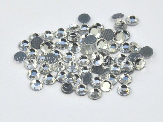 sada skleněných hot-fix kamenů 101 Crystal /stříbrná 4x144ks