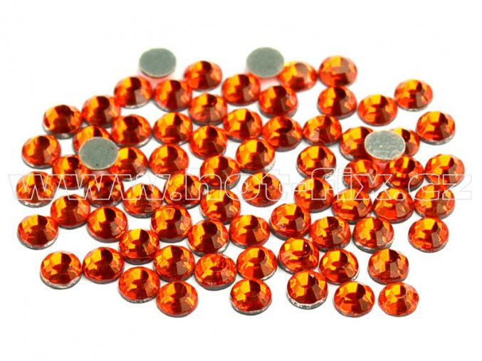 sada skleněných hot-fix kamenů 104 Orange /oranžová 4x144ks