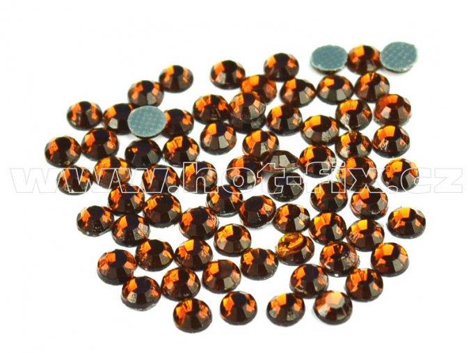 sada skleněných hot-fix kamenů 108 Topaz tmavý 4x144ks