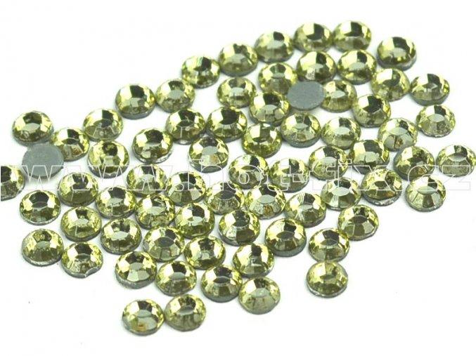sada skleněných hot-fix kamenů 111 Jonquil /zlatá 4x144ks