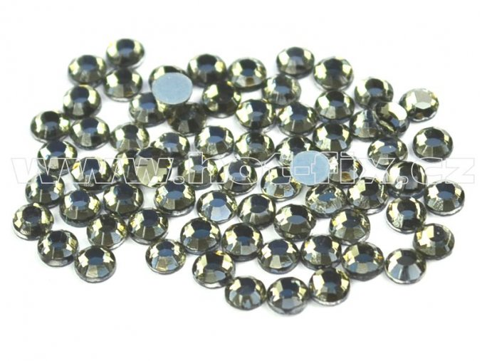 sada skleněných hot-fix kamenů 126 Black diamond /kouřová 4x144ks