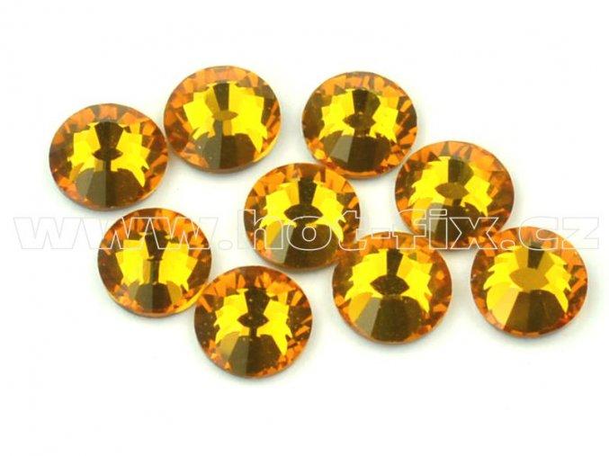 hot-fix celobroušené kameny Premium barva CBP/109 Topaz, sada 4x144ks