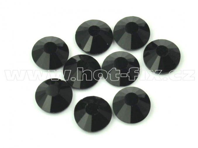hot-fix celobroušené kameny Premium barva CBP/124 Jet černá, sada 4x144ks