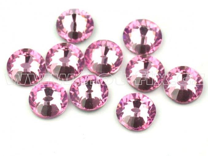 hot-fix celobroušené kameny Premium barva CBP/105 Rose světlý /světle růžová, sada 4x144ks