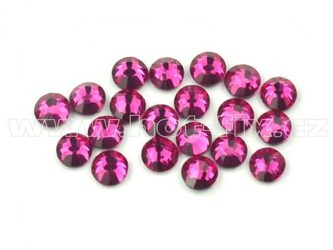 celobroušené hot-fix kameny Premium barva 218 Fuchsia, velikost SS10, balení 144ks, 720ks nebo 1440ks