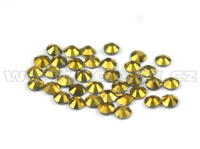 CBP 305 Gold Hematite velikost SS6 hot fix kameny na textil celobroušené Premium