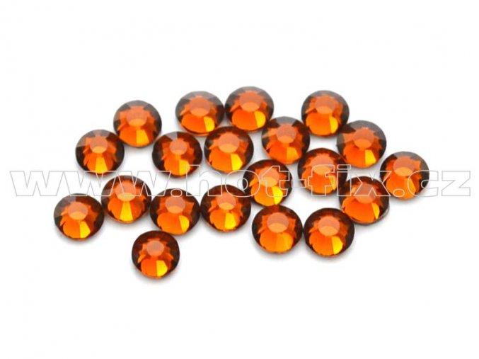 celobroušené hot-fix kameny Premium barva 108 Topaz tmavý, velikost SS10, balení 144ks, 720ks nebo 1440ks
