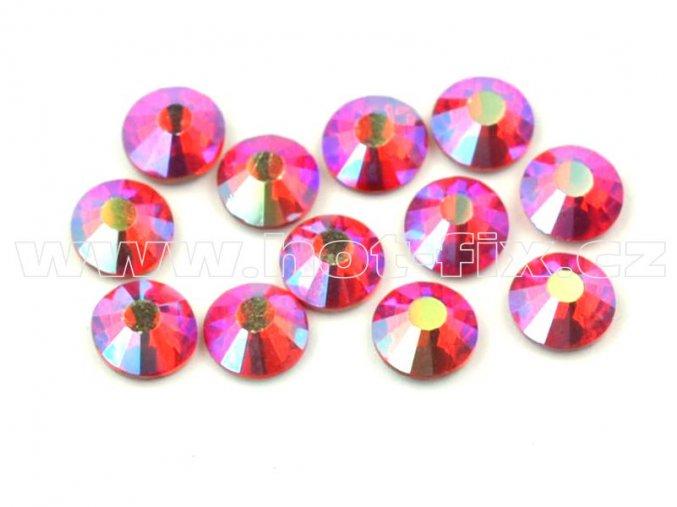 celobroušené hot-fix kameny Premium barva 503 AB Siam, velikost SS16, balení 144ks, 720ks nebo 1440ks