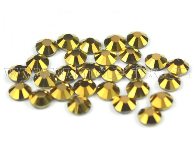 CBP 305 Gold Hematite velikost SS10 hot fix kameny na textil celobroušené Premium
