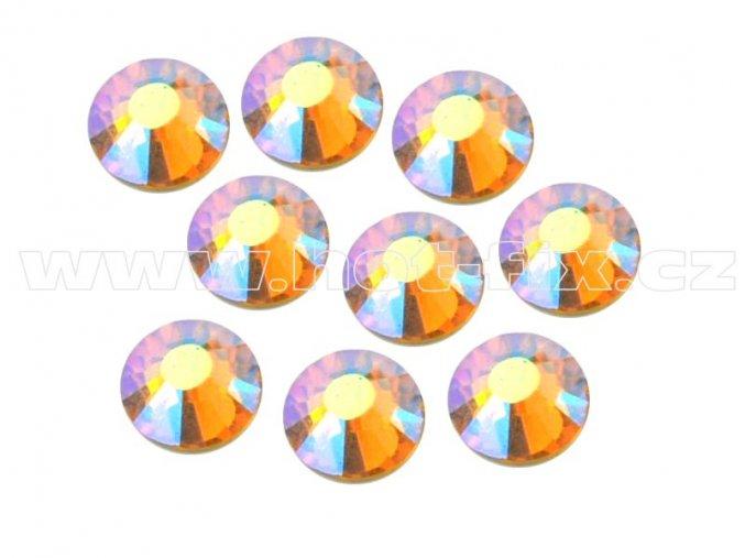 celobroušené hot-fix kameny Premium barva 509 AB Topaz, velikost SS20, balení 144ks, 720ks nebo 1440ks