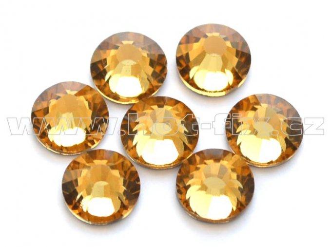 celobroušené hot-fix kameny Premium barva 110 Lt. Colorado Topaz, velikost SS30, balení 144ks, 720ks nebo 1440ks