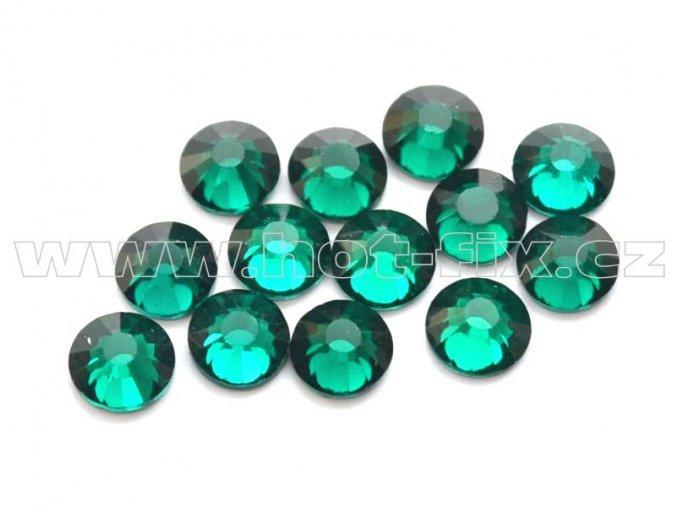 celobroušené hot-fix kameny Premium barva 115 Emerald, velikost SS16, balení 144ks, 720ks nebo 1440ks