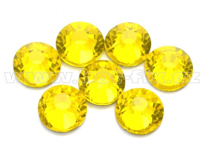celobroušené hot-fix kameny Premium barva 112 Citrine, velikost SS30, balení 144ks, 720ks nebo 1440ks
