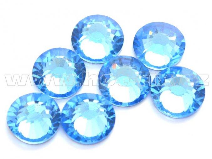 celobroušené hot-fix kameny Premium barva 118 Sapphire světlý, velikost SS30, balení 144ks, 720ks nebo 1440ks