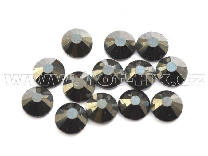 celobroušené hot-fix kameny Premium barva 125 Jet hematite, velikost SS16, balení 144ks, 720ks nebo 1440ks