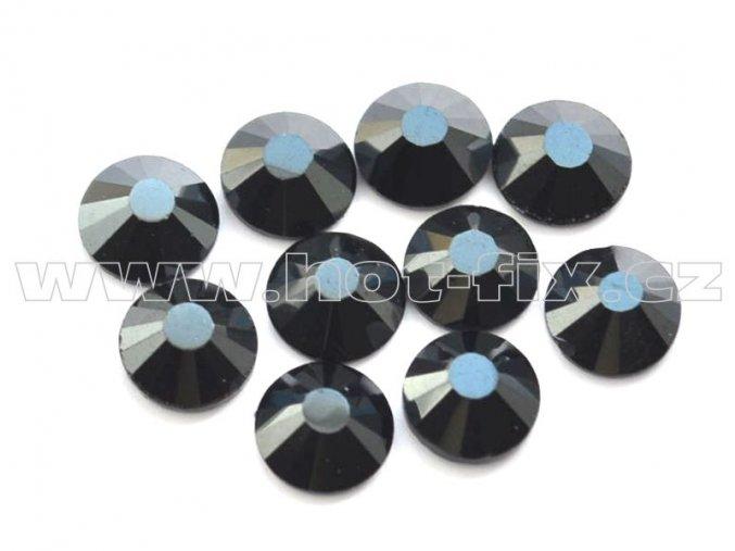 celobroušené hot-fix kameny Premium barva 127 DK Jet hematite, velikost SS20, balení 144ks, 720ks nebo 1440ks