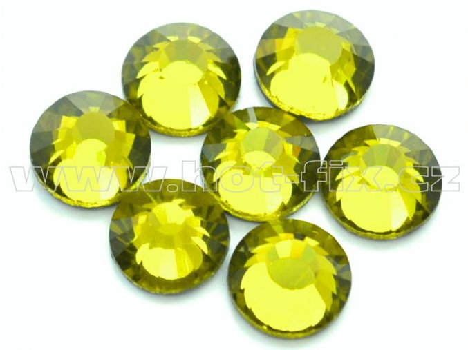 celobroušené hot-fix kameny Premium barva 134 Olivín, velikost SS30, balení 144ks, 720ks nebo 1440ks