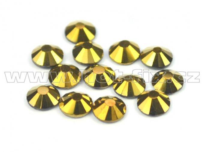 CBP 305 Gold Hematite velikost SS16 hot fix kameny na textil celobroušené Premium