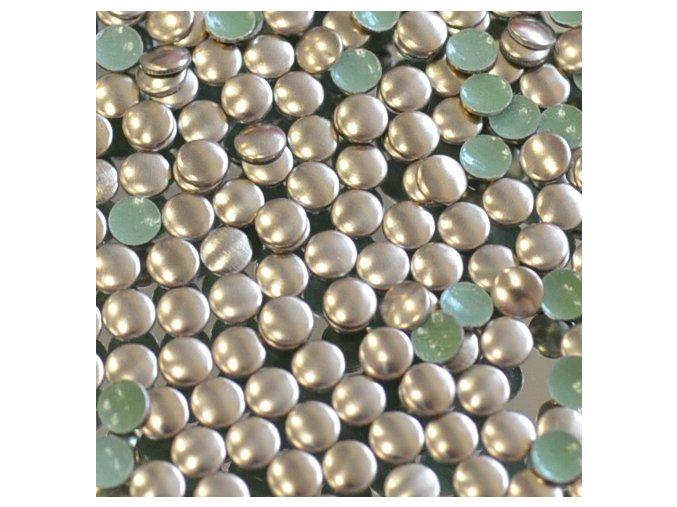 kovové hot-fix kameny barva 07 bronz velikost 2mm, balení 100 nebo 500ks