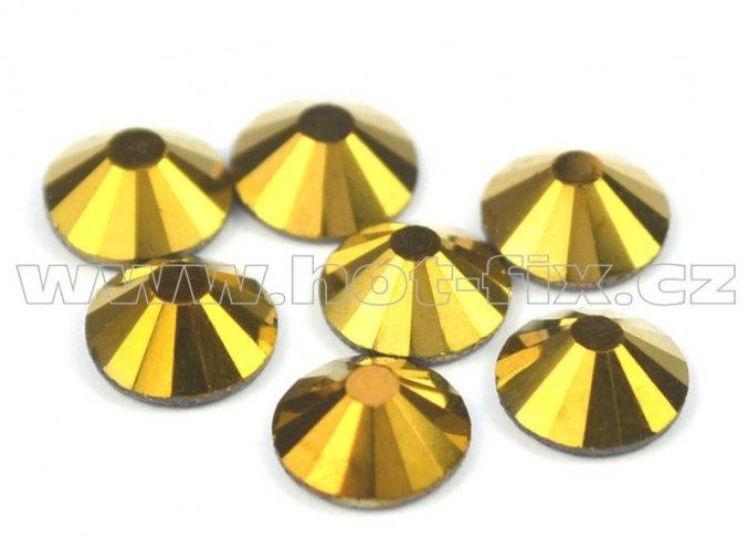 CBP 305 Gold Hematite velikost SS30 hot fix kameny na textil celobroušené Premium2