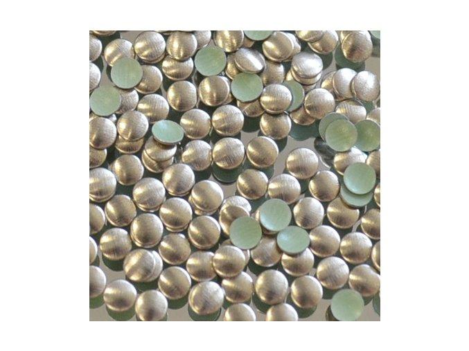kovové hot-fix kameny barva 08 bronz mat velikost 4mm, balení 100 nebo 500ks