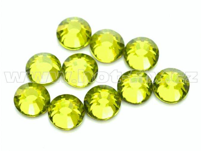 hot-fix celobroušené kameny Premium barva CBP/134 Olivín, sada 4x144ks