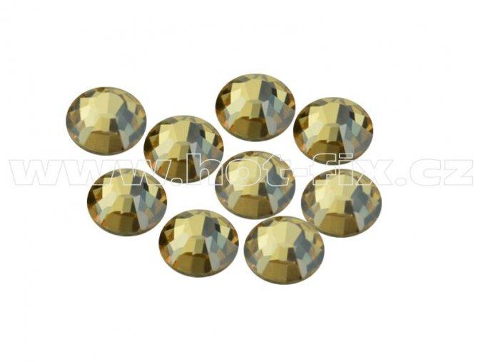 CBEP 1313 Gold crystal velikost SS20 hot fix kameny na textil celobroušené Premium Extra C