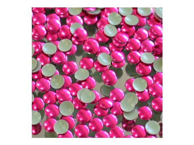 kovové hot-fix kameny barva 11 fuchsia velikost 4mm, balení 100 nebo 500ks