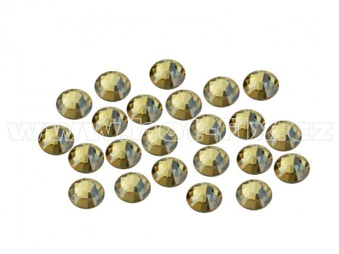 CBEP 1313 Gold crystal velikost SS10 hot fix kameny na textil celobroušené Premium Extra B