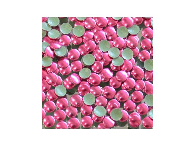 kovové hot-fix kameny barva 12 růžová velikost 4mm, balení 100 nebo 500ks